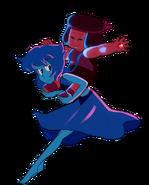 Ruby and Lapis Lazuli fusing