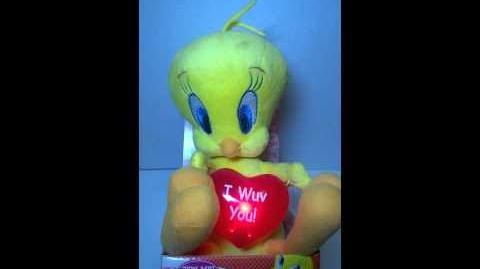 Animated Plush Tweety Valentine SINGS U0026 Dances Do You Love Me I Wuv You  Heart