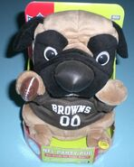 CLEVELAND BROWNS SINGING & DANCING PARTY PUG - NEW