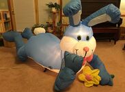 Gemmy Airblown Inflatable Prototype Easter Bunny Laying Lounging With Flower