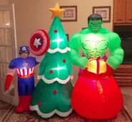Gemmy Prototype Christmas Avengers Captain America Hulk Inflatable Airblown