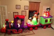 Gemmy Prototype Halloween Mickey Minnie Goofy Train Inflatable Airblown