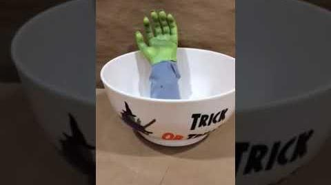 Gemmy Monster Hand Trick or Treat Candy Bowl