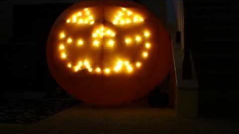"""Gemmy Singing Pumpkin Airblown """"Thriller"""" & """"It's Halloween Time"""""""