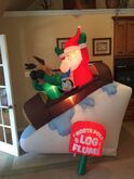 Gemmy inflatable North Pole log flume