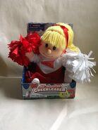 Vintage Gemmy All American Cheerleader Blond Varsity Red Arkansas Alabama