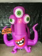 Gemmy Prototype Halloween Inflatable Three Eye Creepy Creature