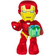 Iron man with present