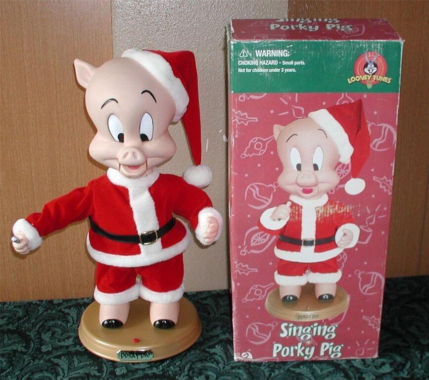 animated christmas porky pig figurejpg - Porky Pig Christmas