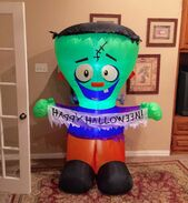 Gemmy Prototype Halloween Frankenstein Inflatable Airblown