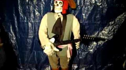 21804 Gemmy 5ft Animated Guitar Playing Skeleton - Song 1
