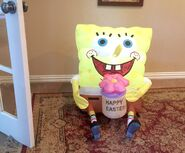 Gemmy Prototype Easter Spongebob with Flower Inflatable Airblown