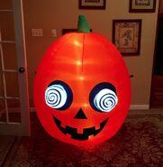 Gemmy Prototype Halloween Pumpkin Inflatable Airblown