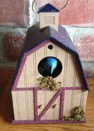 Animated Chirping & Singing Blue Bird Birdhouse by Gemmy