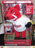 Arkansas razorbacks mascot singing toy