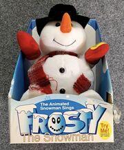 Gemmy dancing snowman sings frosty the snowman