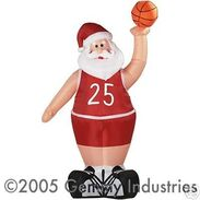 Airblown Inflatable Basketball Santa Claus