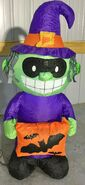 Gemmy Prototype Halloween Inflatable Witch