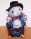 Gemmy Singing Hamster - ''I Want To Be a Cowboy'' - Lasso Twirls - VGC
