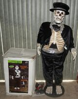 Life Size Dancing Tuxedo Skeleton