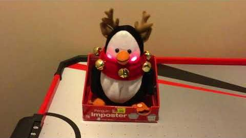 (Gemmy) Animated Penguin Imposter Reindeer