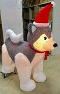 6ft Gemmy Airblown Inflatable Christmas Mixed Media Husky Prototype