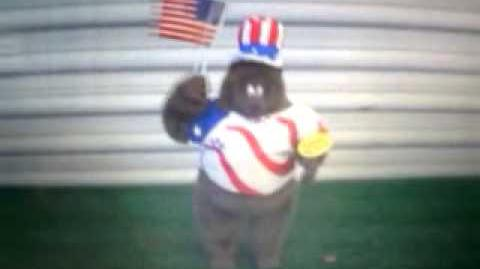 Gemmy animated American singing bear