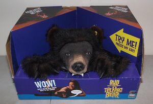 New!! Rare!! Vtg GEMMY ''Bud The Talking Bear Skin Rug''