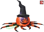 Orange Black Spider Witch Hat Gemmy Airblown Inflatable Yard Decoration Halloween 222200 thumbnail