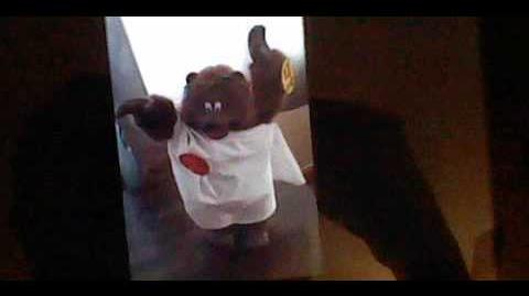 Gemmy animated dancing toga bear