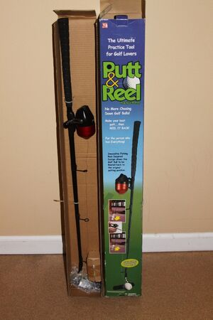 PUTT AND REEL PRACTICE PUTTER - GOLF CLUB AND FISHING REEL 2