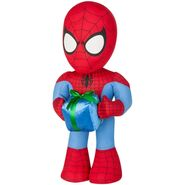 Spider man with present