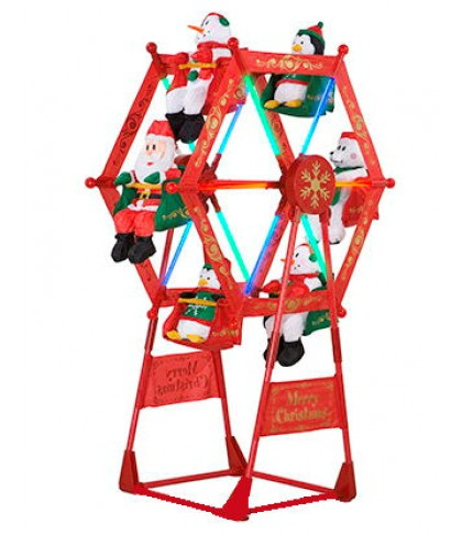 Image - 5' Rotating Christmas Ferris Wheel w Characters.jpg | Gemmy ...