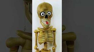 Gemmy Halloween Talking Animated Wisecracking Skeleton Decoration