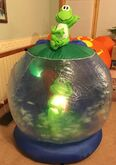 Gemmy Airblown Inflatable Prototype Frog Swamp Globe Whirlwind Summer Anytime