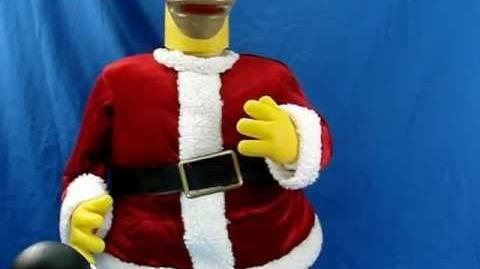 Homer Bart Simpson Merry Christmas Animated Singing Karoke