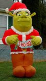 GEMMY 8FT SHREK SANTA CHRISTMAS LIGHTED AIRBLOWN INFLATABLE YARD DISPLAY, RARE