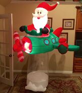 Gemmy Prototype Christmas Santa in Plane Inflatable Airblown
