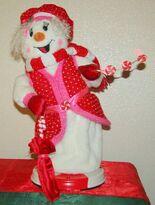 Spinning Snowflake Snowman