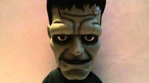 2001 Gemmy Big Head Animated Singing & Dancing Frankenstien Boris Karloff Universal Studios