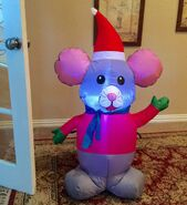 Gemmy Prototype Christmas Mouse Inflatable Airblown