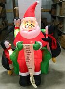 6ft Gemmy Airblown Inflatable Christmas Santa And Penguins w List Prototype