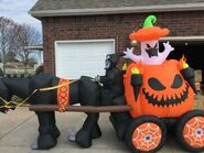 Gemmy Prototype Halloween Inflatable Carriage 2