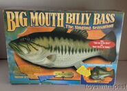 Gemmy BIG MOUTH BILLY BASS Singing Animated Bass Fish Plaque BOX