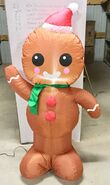 4ft Gemmy Airblown Inflatable Christmas Gingerbread Man Prototype
