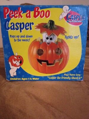 Gemmy peek a boo casper the ghost in pumpkin