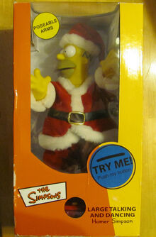 2002 Gemmy large talking singing christmas homer simpson