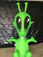 Gemmy Prototype Halloween Inflatable Alien