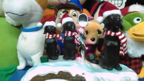 Gemmy singing black lab dog's