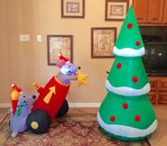 Gemmy Prototype Christmas Mice Star Scene Inflatable Airblown